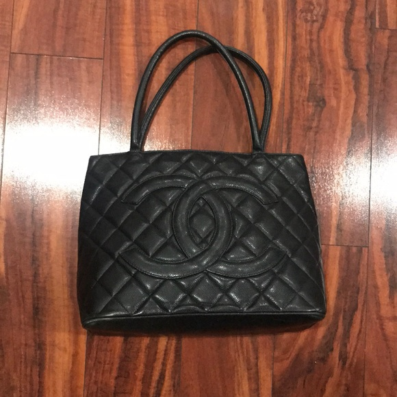28a5acba80d8 CHANEL Bags | Authentic Vintage Caviar Medallion Tote | Poshmark